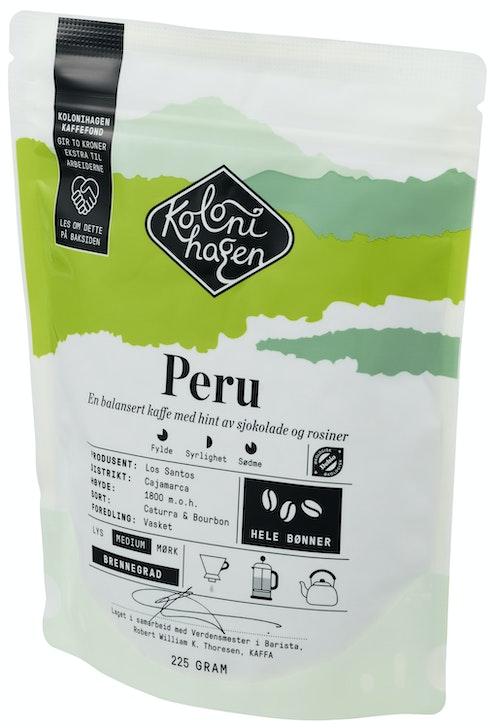 Kolonihagen Kaffe Peru Hele Bønner, 225 g