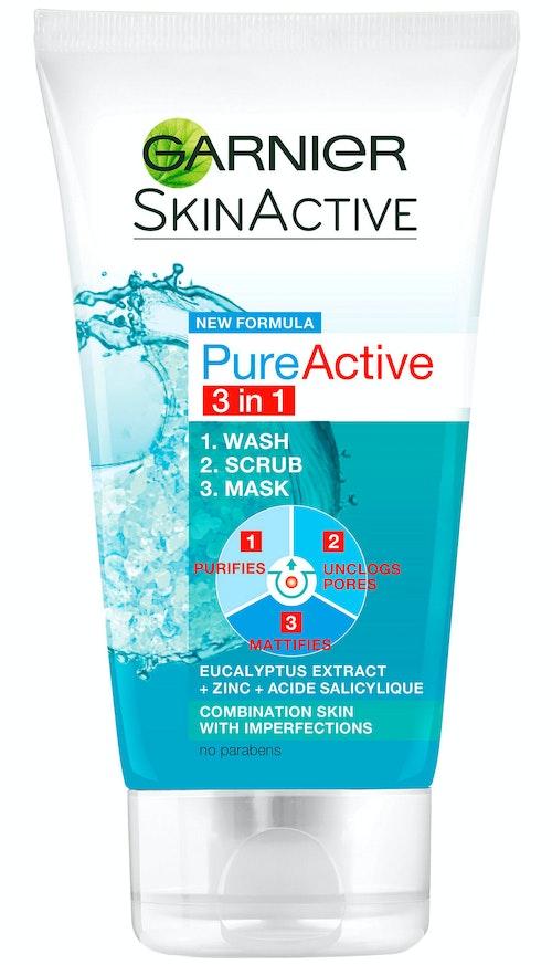 Garnier Pure Active Ansiktsrens 3in1 Skin Naturals, 150 ml