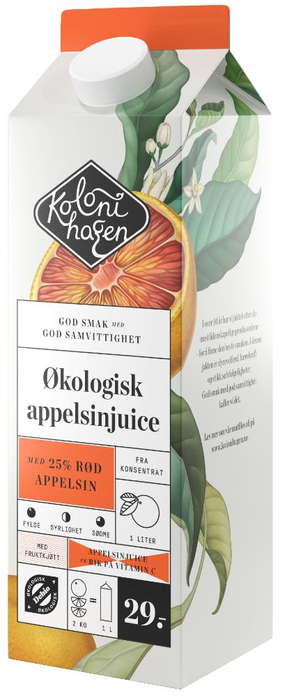 Kolonihagen Appelsinjuice Rød Appelsin Økologisk, 1 l