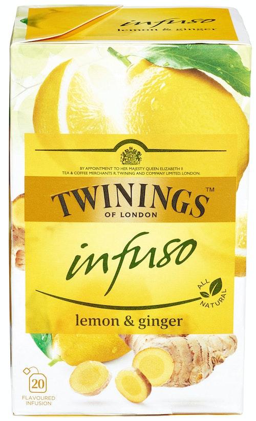 Twinings Lemon & Ginger Infuso, 20 stk