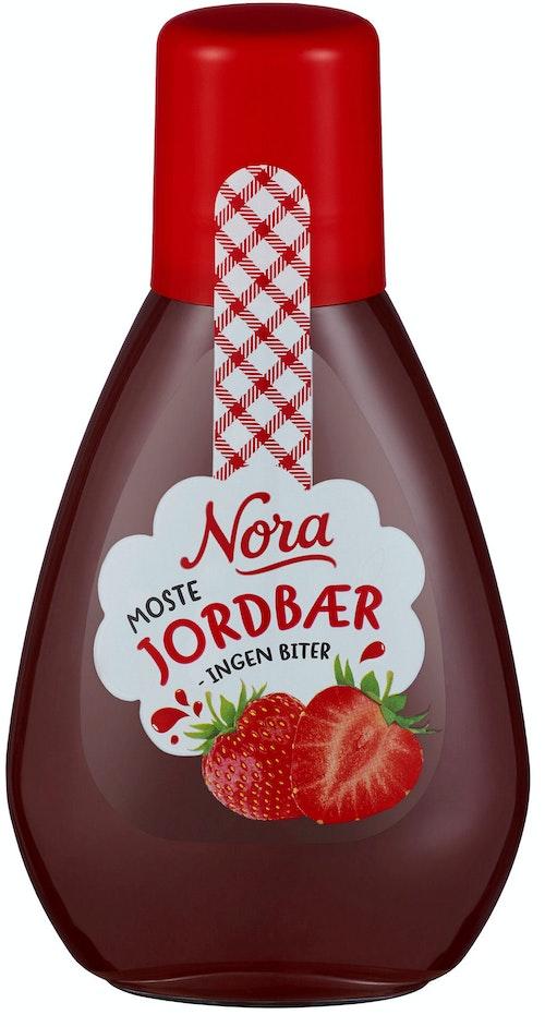 Nora Jordbærsyltetøy Squeezy, 425 g