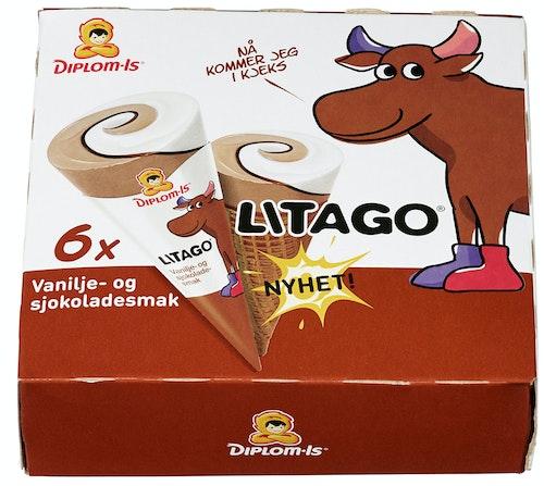 Diplom-Is Litago Kremmerhus 6 stk, 750 ml