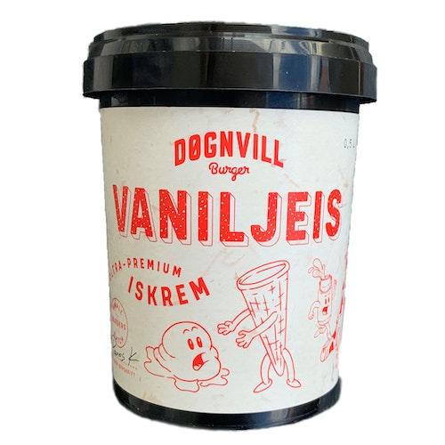 Døgnvill Iskrem  Premium Vanilje 500 ml