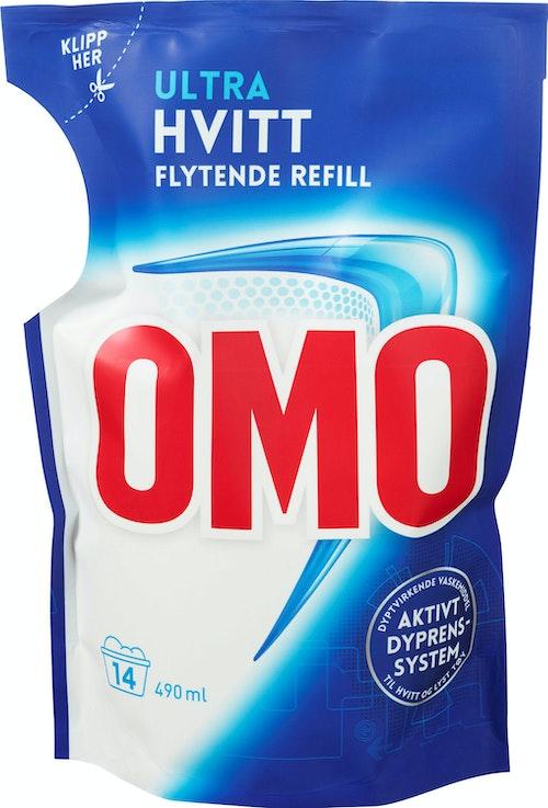 OMO Omo Ultra Hvitt Flytende Refill, 490 ml