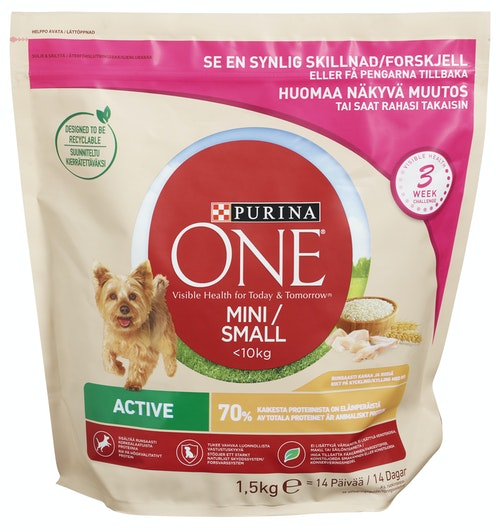 Purina Small dog active Purina One, 1,5 kg