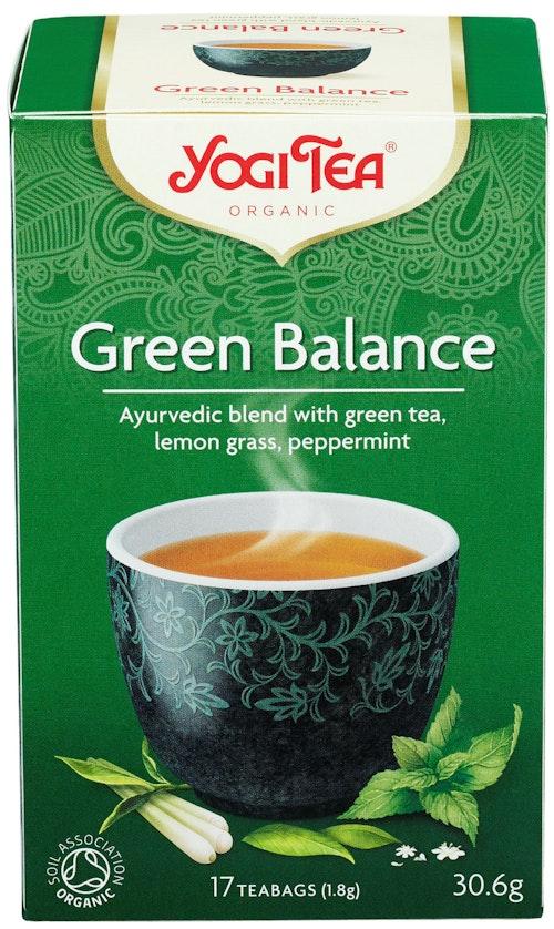 Yogi Yogi Tea Green Balance Økologisk, 17 stk