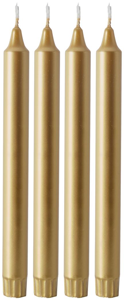 Duni Kronelys Gull 25cm, 4 stk