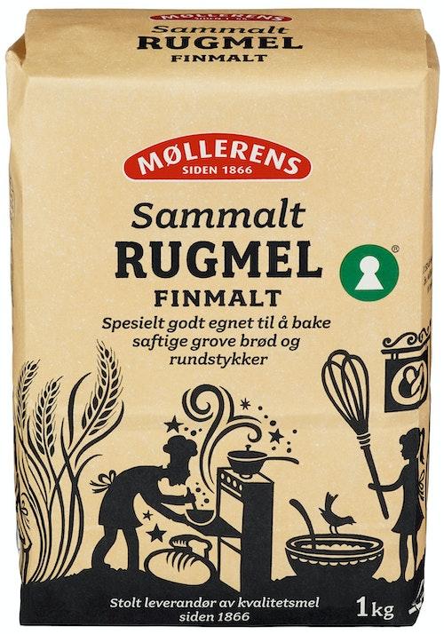 Møllerens Rug Sammalt Fin, 1 kg