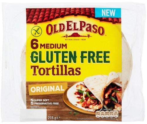 Old El Paso Tortilla Glutenfri 6 stk ca 17 cm