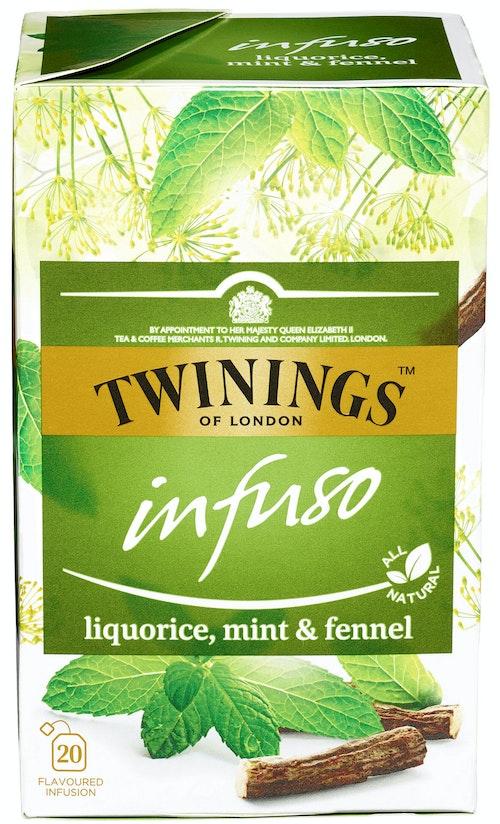 Twinings Lakris Mint & Fennikel Infuso, 20 stk