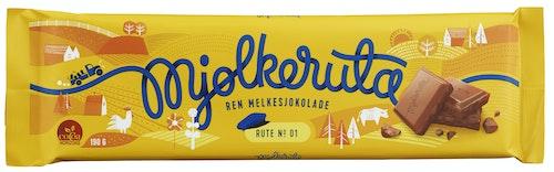 Mjølkeruta Ren Melkesjokolade, 190 g