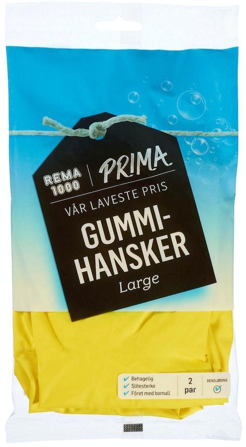 REMA 1000 Gummihansker Large, 2 par, 2 stk
