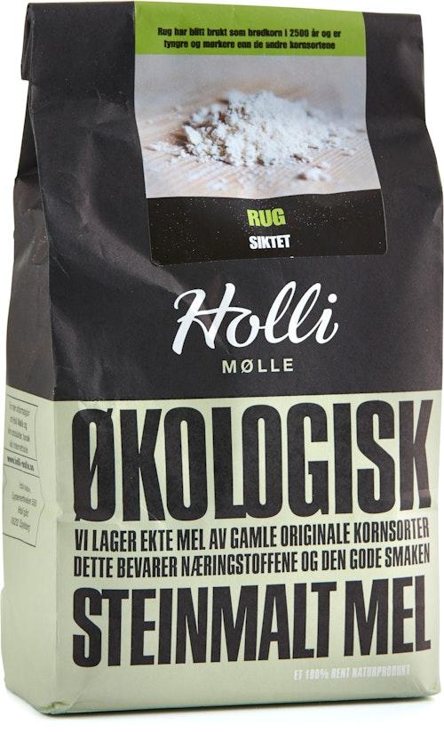 Holli Mølle Økologisk Rugmel Siktet 1 kg