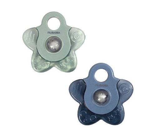 Filibabba Kjølende biteleke, blå stjerne, 2stk 1 stk