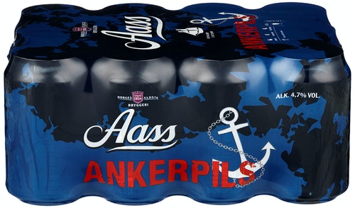 Aass Bryggeri Aass Ankerpils 12 x 0,33l, 3,96 l