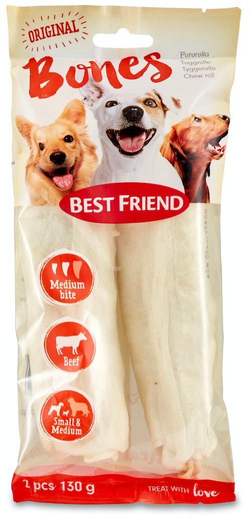 Best Friend Tyggeben Bigbite Hvit Rull Medium, 2 stk, 130 g