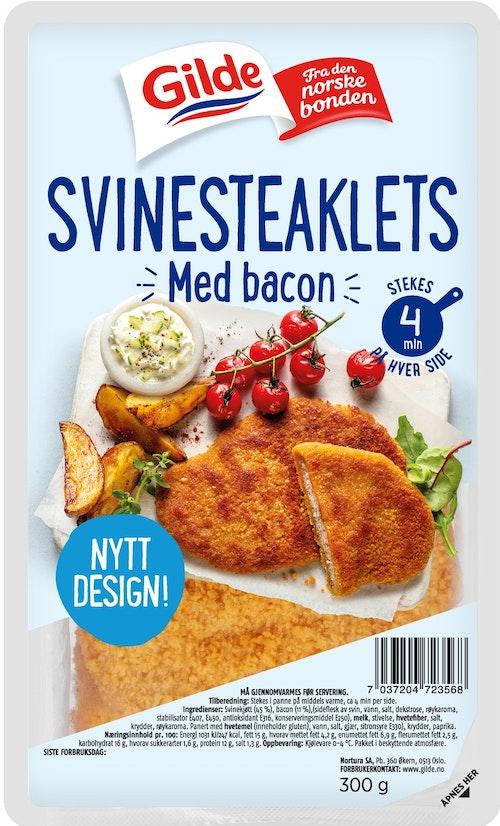 Gilde Svinesteaklets Med Bacon 300 g