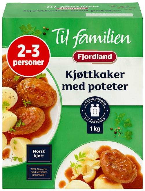 Fjordland Kjøttkaker Med Poteter Fjordland til familien, 1 kg