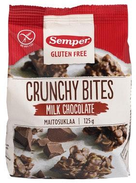 Semper Crunchy Bites Melkesjokolade 125 g