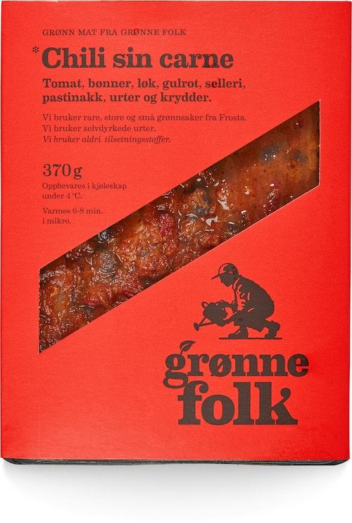 Grønne Folk Chili sin carne 370 g