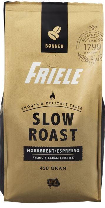Friele Slow Roast Mørk Hele bønner, 450 g