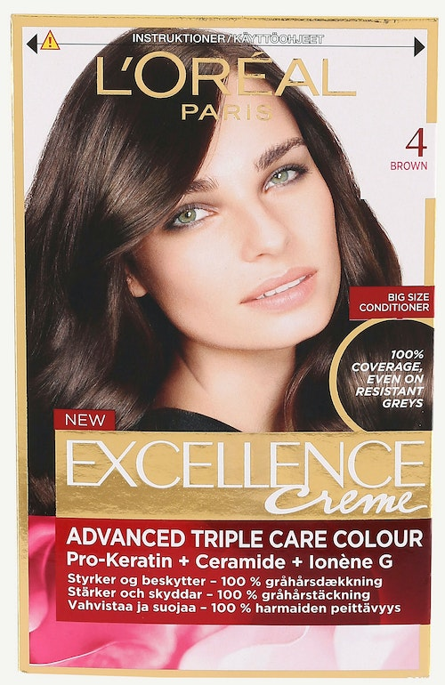 L'Oreal Excellence 4 Brun 1 stk