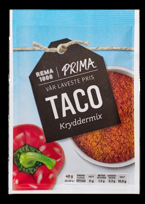 REMA 1000 Taco Spice Mix Mild 40 g