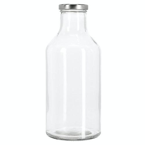 Clas Ohlson Glassflaske med skrukork 1 liter, 1 stk