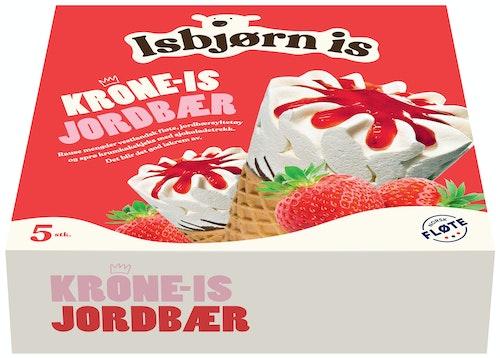 Isbjørn Is Krone-Is Jordbær 5 stk, 640 ml