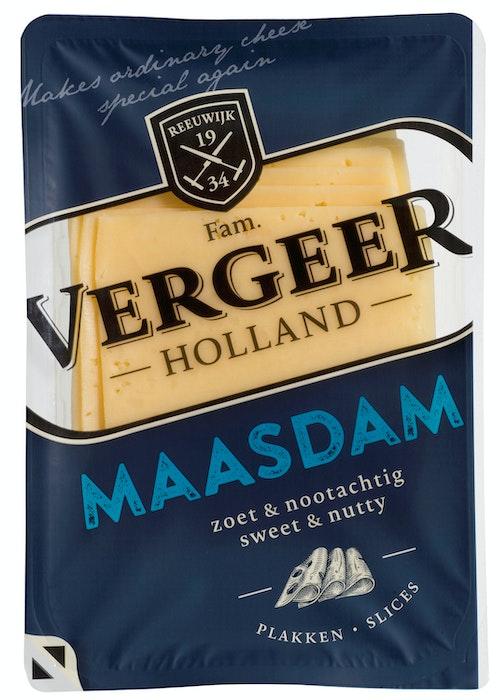 Vergeer Skivet Ost Maasdam, 175 g