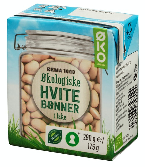 REMA 1000 Store Hvite Bønner Økologisk, 290 g