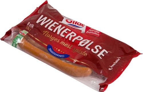Gilde Wienerpølse 8 stk, 520 g