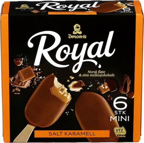 Diplom-Is Royal Salt Karamell Mini 6 stk, 480 ml