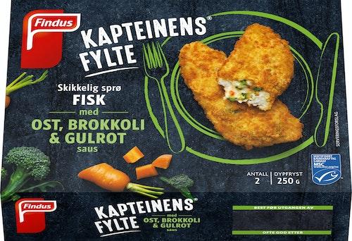 Findus Kapteinens Fylte med Ost, Brokkoli & Gulrot 250 g