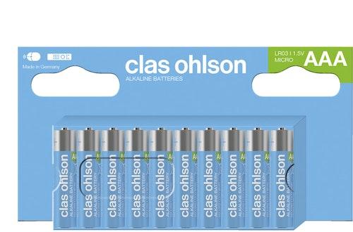Clas Ohlson Co-batteri AAA LR03, 10 stk