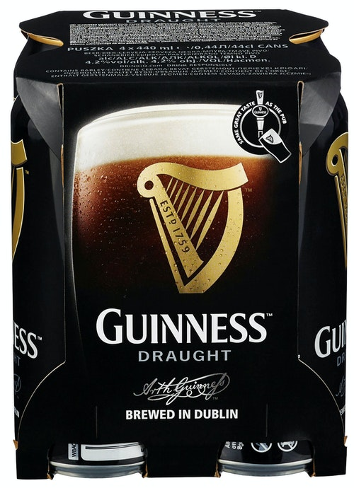 Guinness Guinness 4 x 0,44l, 1,76 l