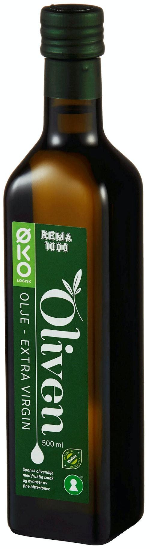 REMA 1000 Olivenolje Extra Virgin Økologisk, 0,5 l