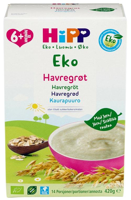 Hipp Havregrøt fra 6 mnd, 14 posjoner, 420 g