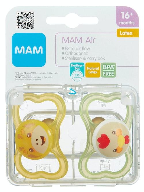 MAM Smokk Air Latex Assortert variant, Fra 16 mnd, 2 stk