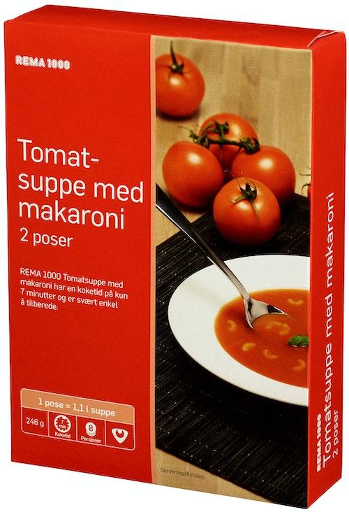 REMA 1000 Tomatsuppe Med Makaroni 2pk, 246 g