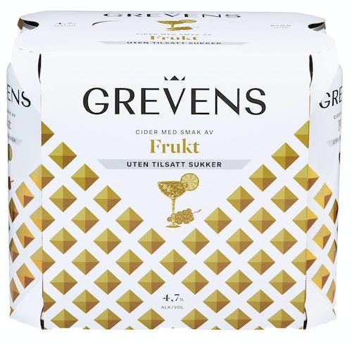 Grevens Grevens Cider Fruktsmak Uten Sukker 6 x 0,5l, 3 l