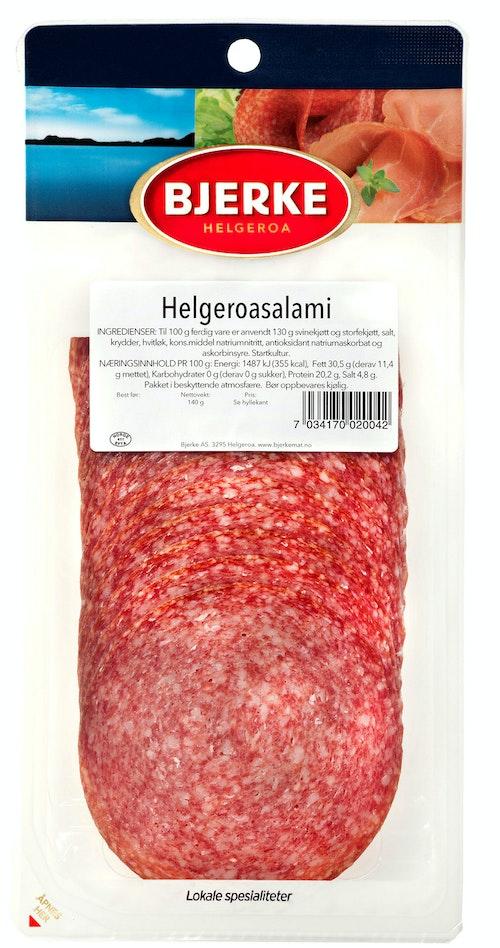 Bjerke Spekemat Helgeroasalami 140 g