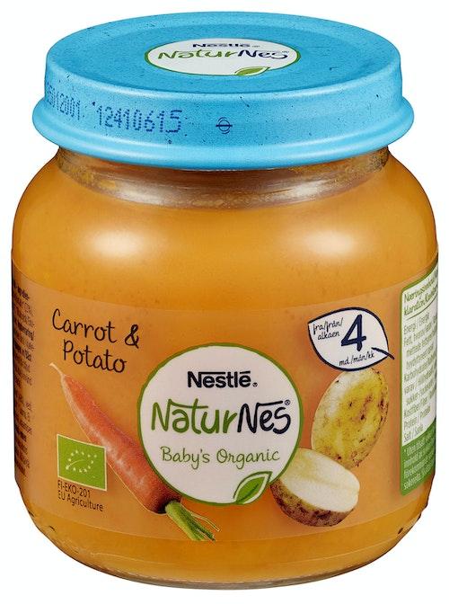 Nestlé NaturNes Gulrot & Potet 4 mnd, 125 g