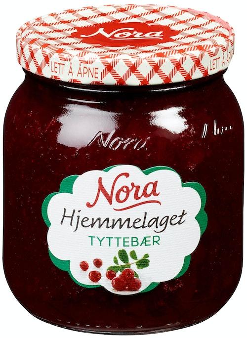Nora Tyttebærsyltetøy Hjemmelaget 400 g