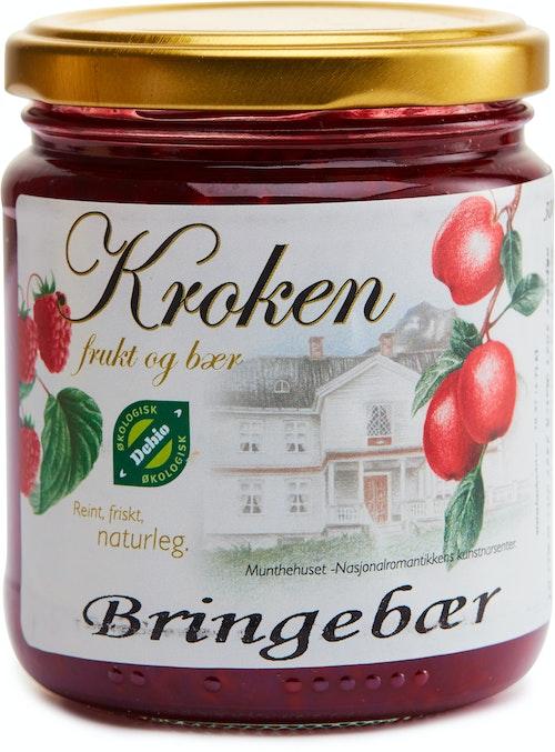 Kroken Frukt & Bær Håndlaget Økologisk Bringebærsyltetøy 300 g