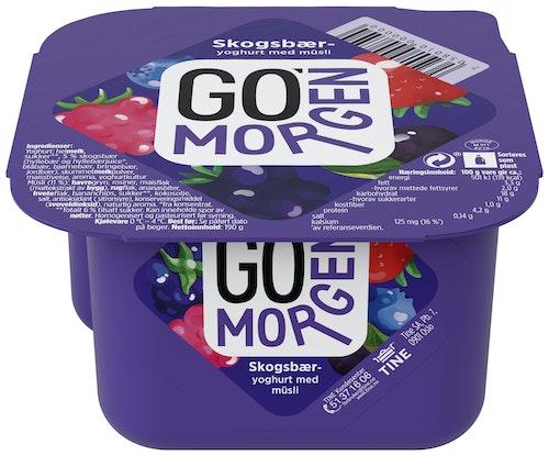 Tine Go' Morgen Skogsbæryoghurt med 4-kornmüsli, 195 g