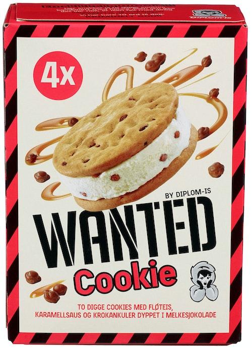 Diplom-Is Wanted Cookie 4 stk, 400 g