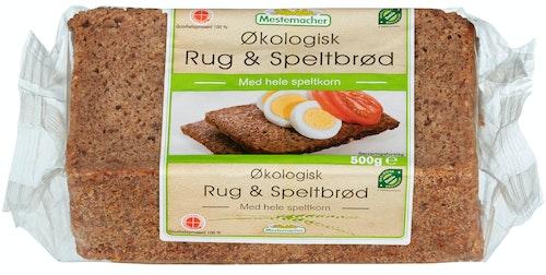 Mestemacher Rug & Speltbrød Økologisk, 500 g