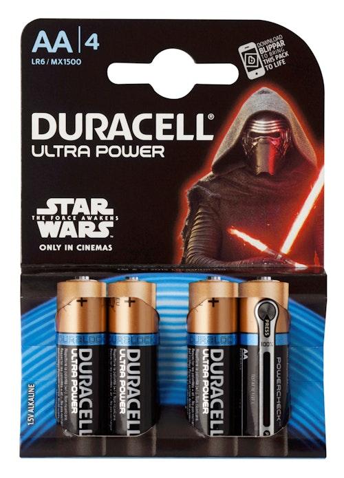Duracell Batterier Ultra Power AA, 4 stk
