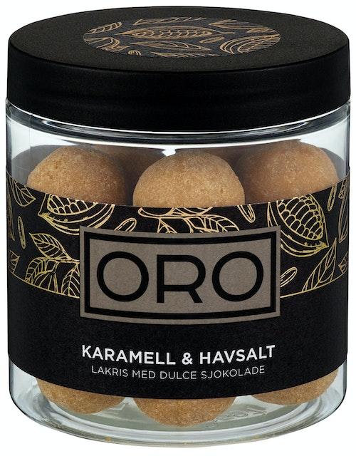ORO Lakriskuler med Karamell og Havsalt 140 g